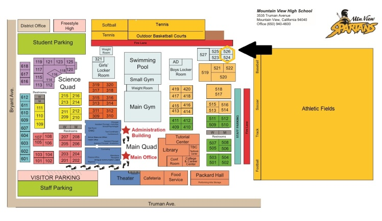 MVHS Campus Map - room 526